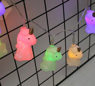 10 Unicorn Colored LEDs String