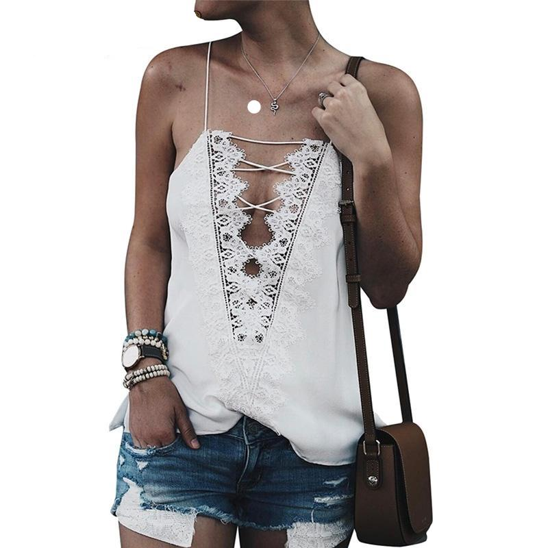 Lace Trim Sexy Camisole Top