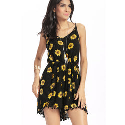 Sunflower Fields Romper Dress