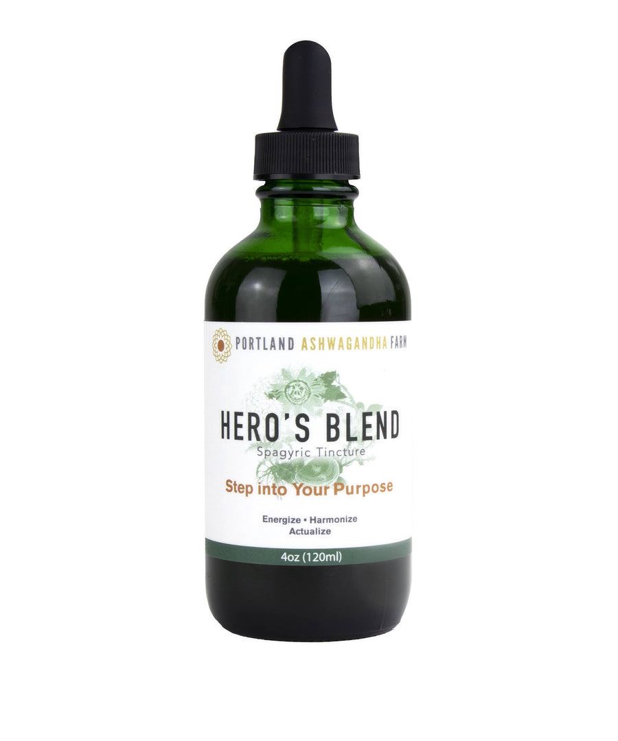 Portland Ashwagandha Farm Tincture 4oz Hero's Blend™ - Fresh Spagyric Tincture