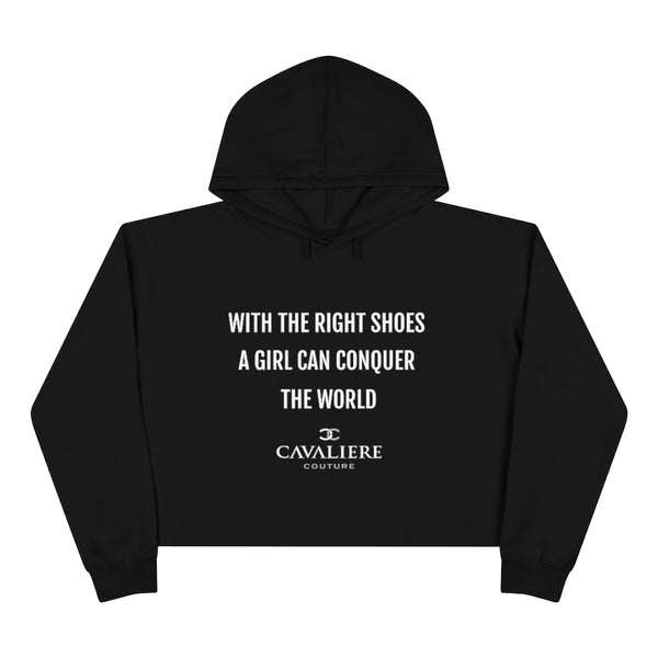 Right Shoes Crop Hoodie