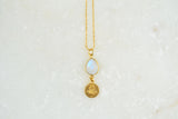 Anchor Necklace w/Moonstone-16