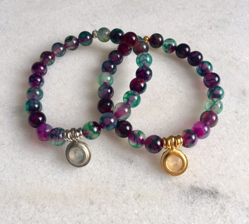 Hope Bracelet with Watermelon Agate
