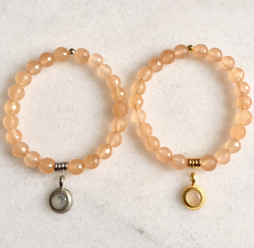 Hope Bracelet with Peach Jade