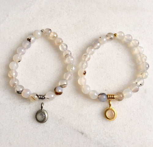 Hope Bracelet with White Agate