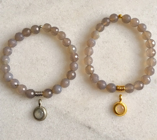 Hope Bracelet with Grey Moonstone