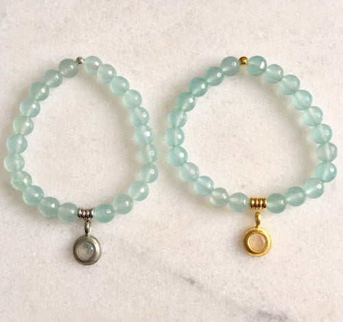 Hope Bracelet with Aquamarine