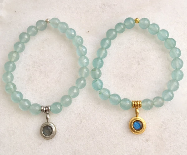 Positivity Bracelet with Aquamarine