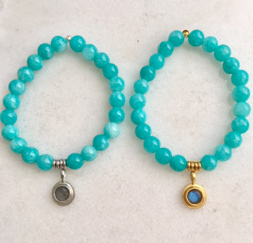 Positivity Bracelet with Amazonite