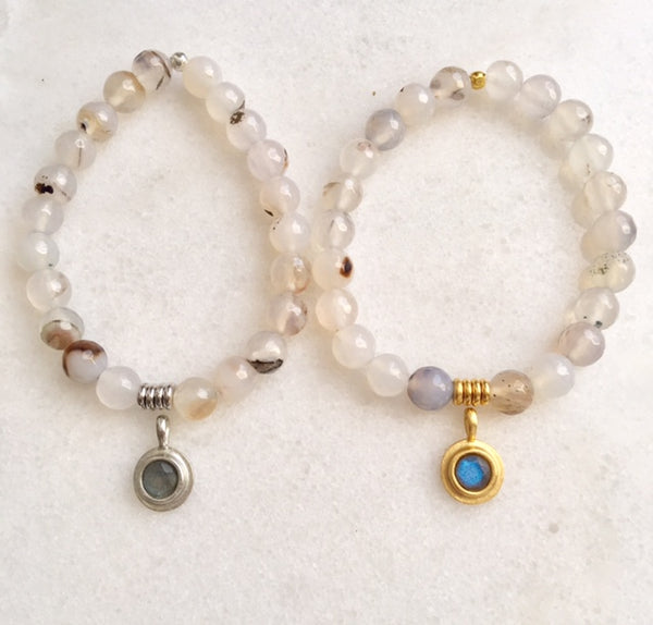 Positivity Bracelet with White Agate