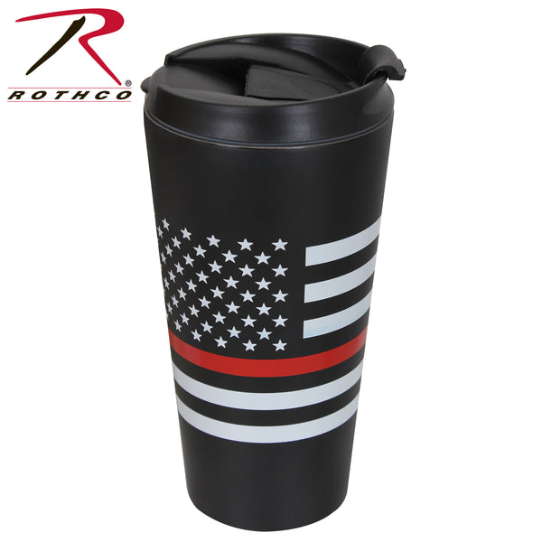 Rothco Thin Red Line Flag Travel Mug