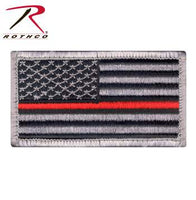 Rothco Thin Red Line US Flag Patch - Hook Velcro Back