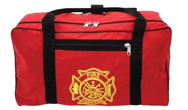 Turnout Gear Bag with Gold Maltese