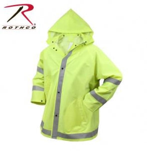 Rothco Safety Reflective Rain Jacket