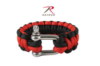 Rothco Thin Red Line Paracord Bracelet With D-Shackle 8""