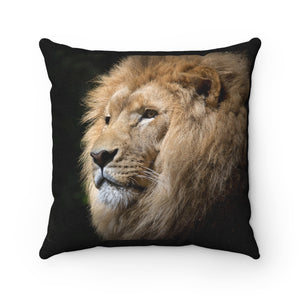 Lion Safari Polyester Square Pillow - Fyred up productions, the law of attraction, energy, love, birthday, gift