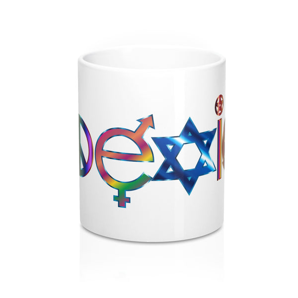 Coexist positivity coffee Mug 11oz - Fyred up productions, the law of attraction, energy, love, birthday, gift