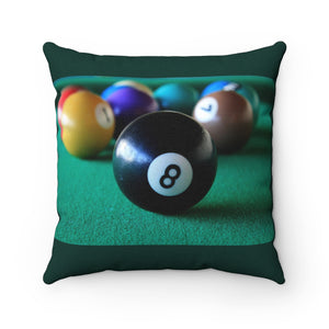 8 Ball Pool Table Polyester Square Pillow - Fyred up productions, the law of attraction, energy, love, birthday, gift
