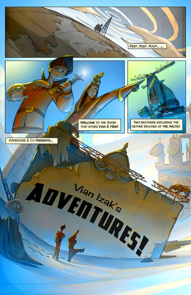 Vian Izak's Adventures - Comic