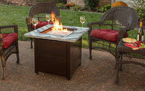 The Duval LP Gas Fire Table by Endless Summer
