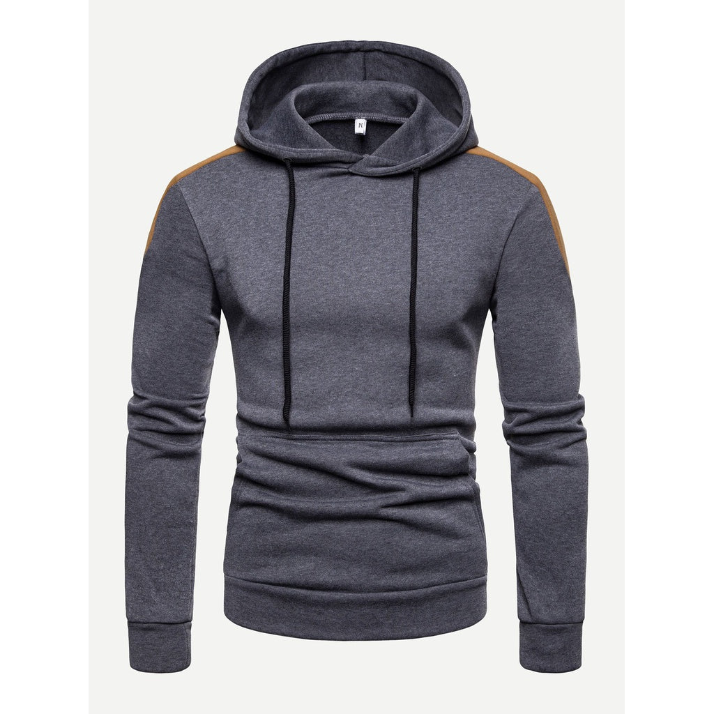 Men Cut And Sew Hooded Sweatshirt