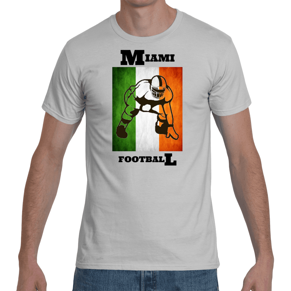 Men's Miami Football T-shirt - Black Print