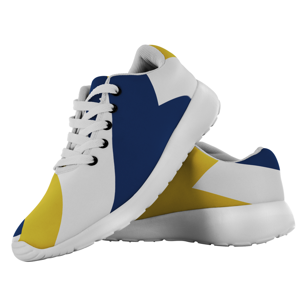 Forward Momentum by LATRA Running Shoes in Blue, Gold, and White