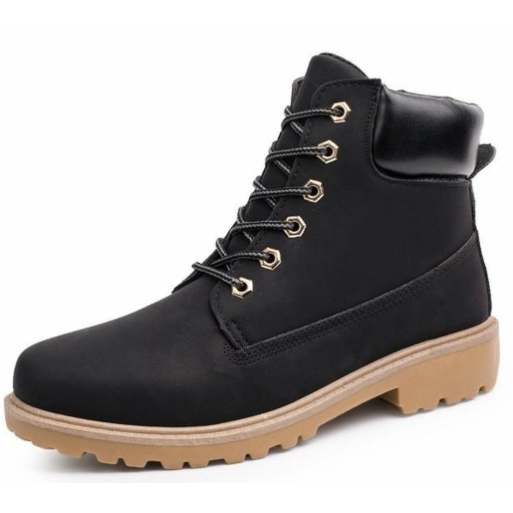 Mens Military Style Outdoor Boots in Yellow