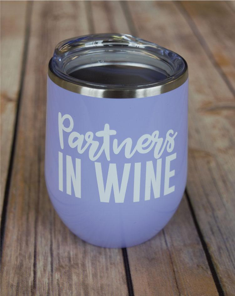 Partners in Wine Wine Tumbler {Multiple Colors}