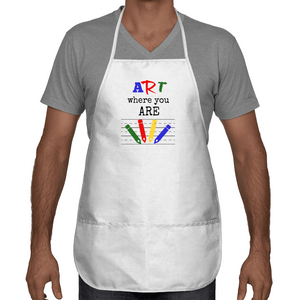 Art Where You Are Two Pocket Apron