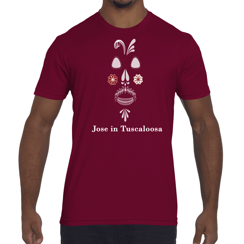 Men's Jose in Tuscaloosa T-Shirt - White Design