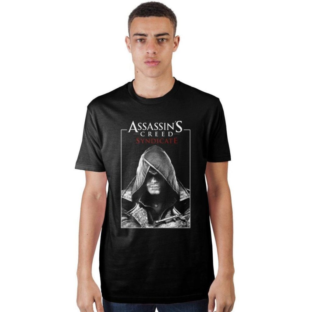 Assassins Creed Syndicate Poster Black T-Shirt - S / - T-Shirt