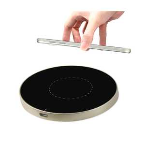 REIKO DUAL COLOR WIRELESS CHARGING QI PAD IN BLACK