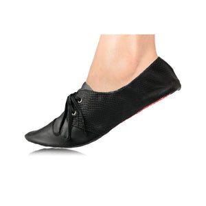 Black Oxford With Laces - Medium (7-8.5) - Womens Shoes