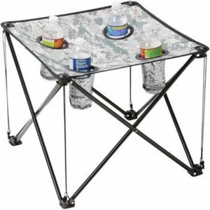 Camping Foldable Maxam Digital Camo Small Camp Table - 3 Pcs Value Pack