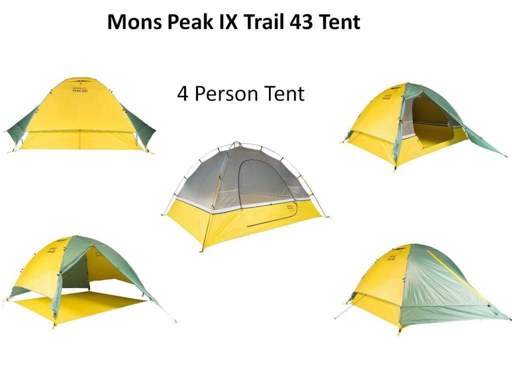 Camping Mons Peak Ix Trail 43 3 Person And 4 2-In-1 Backpacking Tent
