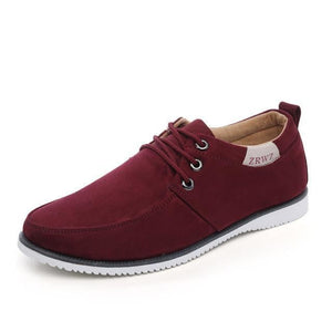 Casual Mens Lace Up Suede Daily Shoes - Red / 6.5 - Product