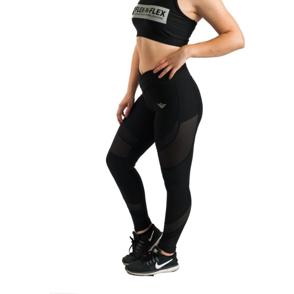 Elegance Mesh Leggings - Black / Xs - Product