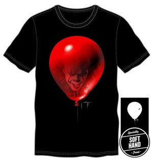 It Mens Red Balloon Black T-Shirt - S / - T-Shirt