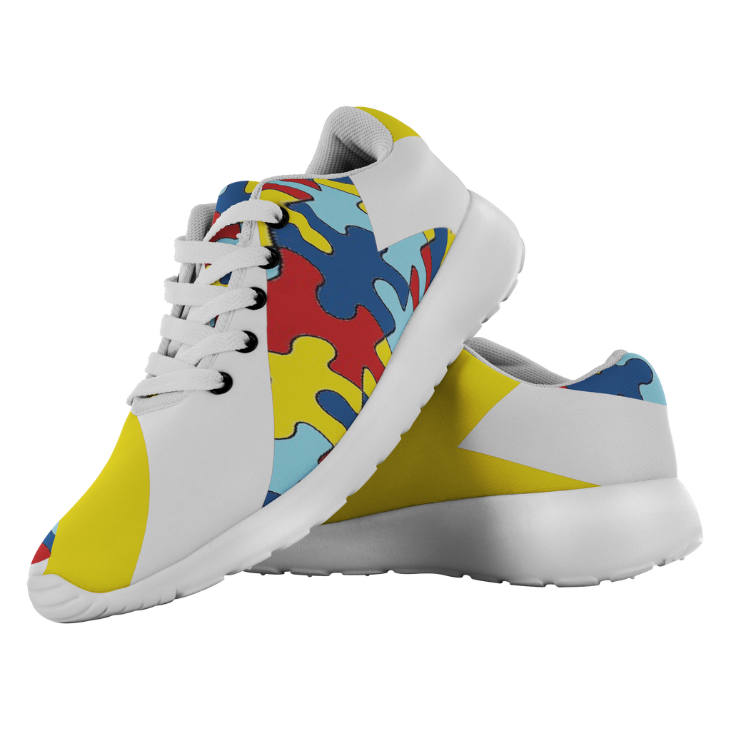 Forward Momentum by LATRA Running Shoes for Autism Awareness in Yellow
