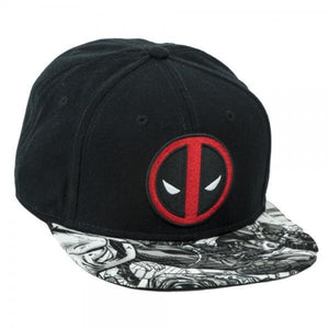 Marvel Deadpool Logo Sublimated Bill Snapback Cap