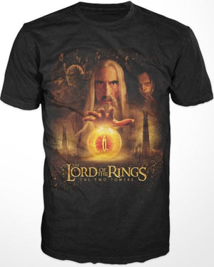 Lord Of The Rings Saruman The Two Towers Shirt - S / Black / T-Shirt - T-Shirt