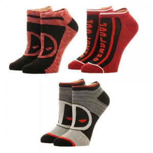 Marvel Deadpool Ankle Socks 3 Pack - Comics