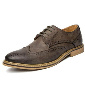 Mens British Style Lace Up Oxford Shoes - Grey / 6