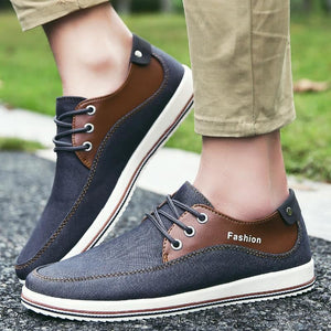 Mens Casual Breathable Street Style Lace Up Flats - Shoes