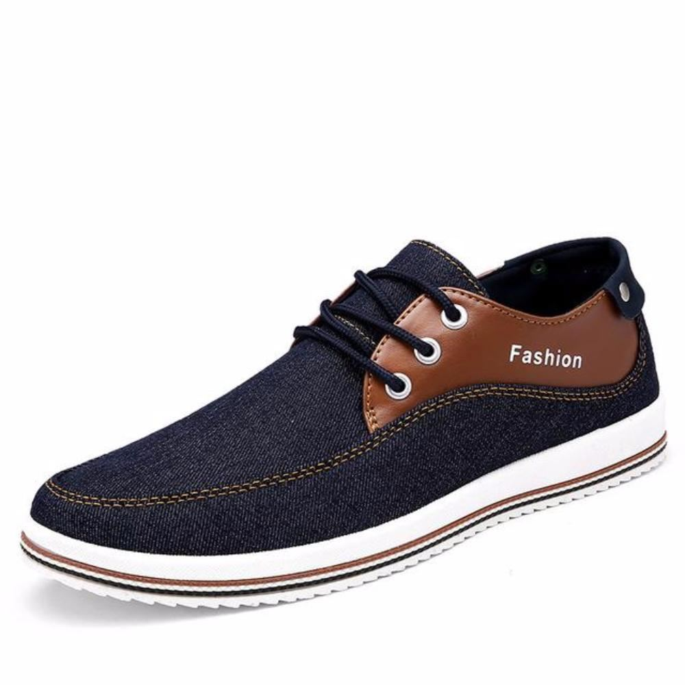 Mens Casual Breathable Street Style Lace Up Flats - Blue / 11 - Shoes