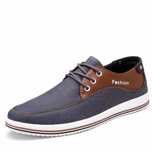 Mens Casual Breathable Street Style Lace Up Flats - Gray / 11 - Shoes