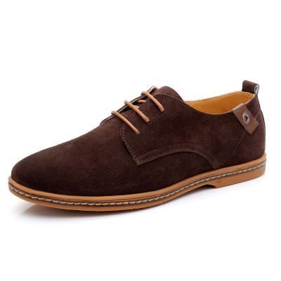 Mens Causal Suede Lace Up Shoes - Brown / 11