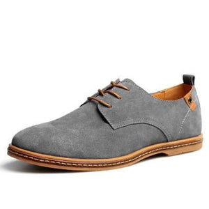 Mens Causal Suede Lace Up Shoes - Gray / 11