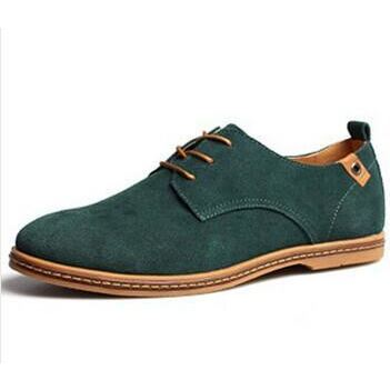 Mens Causal Suede Lace Up Shoes - Green / 11